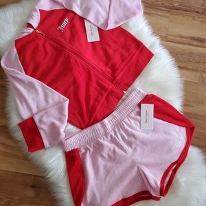 Juicy Couture Terry Cloth Tracksuit Short & Jacket